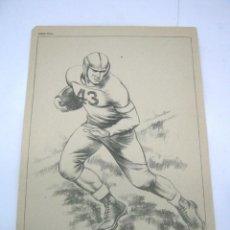 Coleccionismo deportivo: ANTIGUA LAMINA RUGBY MESEGUER. Lote 52375925