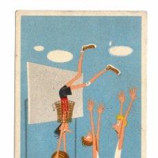 Coleccionismo deportivo: POSTAL BALONCESTO - BASKETBALL - BASKET HUNGRÍA - CIRCULADA - 1958. Lote 52440225