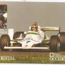 Coleccionismo deportivo: TARJETA DE AUTOMOVILISMO. EMILIO VILLOTA. BANCO OCCIDENTAL. Lote 207036651
