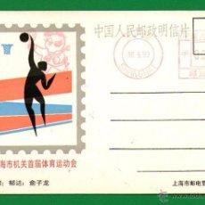 Coleccionismo deportivo: POSTAL DE CHINA SOBRE BALONCESTO: 1º JUEGOS ASIÁTICOS ORIENTALES SHANGHAI 1993 - LO QUE SE VE. Lote 53658512