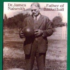 Coleccionismo deportivo: POSTAL DE BALONCESTO: DR. JAMES NAISMITH, EL PADRE DEL BALONCESTO ACTUAL - AÑO 1993. Lote 53743306
