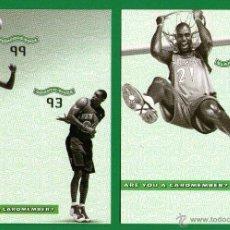 Coleccionismo deportivo: LOTE 2 POSTALES BALONCESTO NBA: MARCUS CAMBY & ALLAN HOUSTON, KEVIN GARNETT - SIN CIRCULAR 2000/2001. Lote 54052135