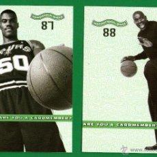 Coleccionismo deportivo: LOTE 2 POSTALES BALONCESTO NBA: MAGIC JOHNSON, DAVID ROBINSON - LAS QUE SE VEN - SIN CIRCULAR - 2001. Lote 54052204