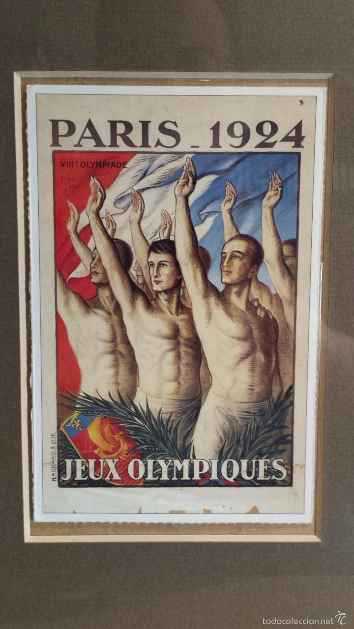 Coleccionismo deportivo: OLIMPIADAS !! CURIOSO CUADRO CON 3 POSTALES DISTINTAS OLIMPIADAS. 51 X 29 CM / BUENA CONSERVACIÓN. - Foto 3 - 55826648