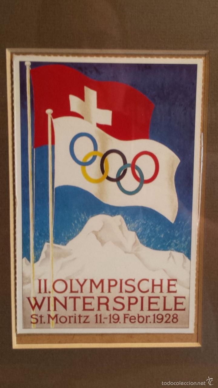 Coleccionismo deportivo: OLIMPIADAS !! CURIOSO CUADRO CON 3 POSTALES DISTINTAS OLIMPIADAS. 51 X 29 CM / BUENA CONSERVACIÓN. - Foto 4 - 55826648