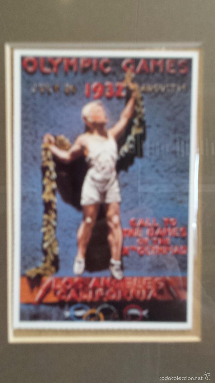Coleccionismo deportivo: OLIMPIADAS !! CURIOSO CUADRO CON 3 POSTALES DISTINTAS OLIMPIADAS. 51 X 29 CM / BUENA CONSERVACIÓN. - Foto 5 - 55826648