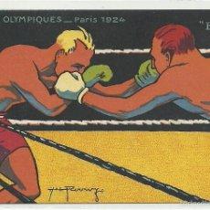 Coleccionismo deportivo: (PS-48395)POSTAL JUEGOS OLIMPICOS DE PARIS 1924 - BOXEO. Lote 56879209