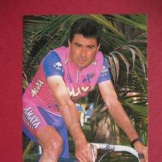 Coleccionismo deportivo: CICLISMO: FRANCISCO ANTEQUERA - SEGUROS AMAYA 1992 - PUBLICIDAD OFICIAL DEL EQUIPO. Lote 57141172