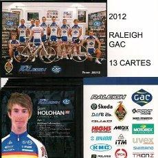 Coleccionismo deportivo: POSTALES DE CICLISMO EQUIPO RALEIGH - GAC 2012 ( 13 TARJETAS ). Lote 57286421