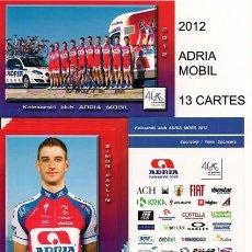 Coleccionismo deportivo: POSTALES DE CICLISMO EQUIPO ADRIA MOBIL 2012 ( 13 TARJETAS ). Lote 57286564