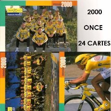 Coleccionismo deportivo: POSTALES DE CICLISMO EQUIPO CICLISTA ONCE 2000 ( 24 TARJETAS ). Lote 57286848