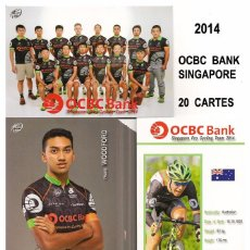 Coleccionismo deportivo: EQUIPO CICLISTA OCB BANK SINGAPORE 2014 ( 20 TARJETAS ). Lote 57289494