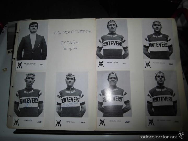 EQUIPO CICLISTA G.D.MONTEVERDE ALGUNAS FIRMADAS (Coleccionismo Deportivo - Postales de otros Deportes )