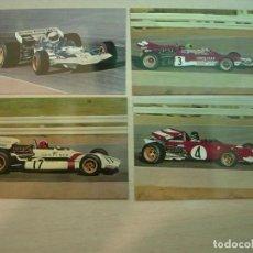 Coleccionismo deportivo: 4 POSTALES FORMULA UNO ( F1 AÑOS 60) FERRARI LOTUS BRM SURTESS . Lote 62046040