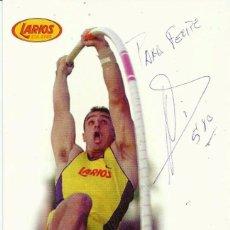 Coleccionismo deportivo: TARJETA DEDICADA *JOSÉ MANUEL ARCOS* -RÉCORD NACIONAL DE SALTO. AÑO 1999.. Lote 69730473