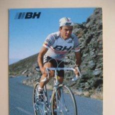 Coleccionismo deportivo: CICLISMO: J. ALONSO - EQUIPO CICLISTA BH 1987 - PUBLICIDAD OFICIAL DEL EQUIPO. Lote 72927831