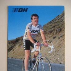 Coleccionismo deportivo: CICLISMO: M. DURANT - EQUIPO CICLISTA BH 1987 - PUBLICIDAD OFICIAL DEL EQUIPO. Lote 72927915