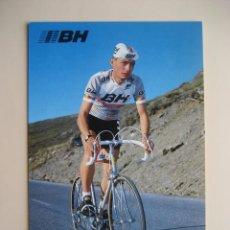 Coleccionismo deportivo: CICLISMO: L. CUBINO - EQUIPO CICLISTA BH 1987 - PUBLICIDAD OFICIAL DEL EQUIPO. Lote 72927991