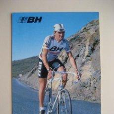 Coleccionismo deportivo: CICLISMO: A. FUERTE - EQUIPO CICLISTA BH 1987 - PUBLICIDAD OFICIAL DEL EQUIPO. Lote 72928071