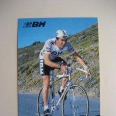 Coleccionismo deportivo: CICLISMO: P. ANTEQUERA - EQUIPO CICLISTA BH 1987 - PUBLICIDAD OFICIAL DEL EQUIPO. Lote 72928187