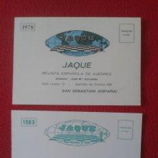 Coleccionismo deportivo: HOJA DE PEDIDO 1978 Y BOLETIN SUSCRIPCION 1983 TIPO TARJETA POSTAL REVISTA ESPAÑOLA DE AJEDREZ CHESS. Lote 72993807