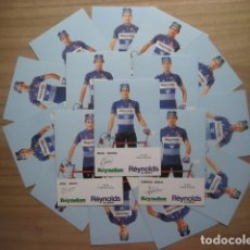 Coleccionismo deportivo: CICLISMO: EQUIPO REYNOLDS 1986 - EQUIPO COMPLETO - 16 CICLISTAS - PUBLICIDAD OFICIAL DEL EQUIPO. Lote 115026420