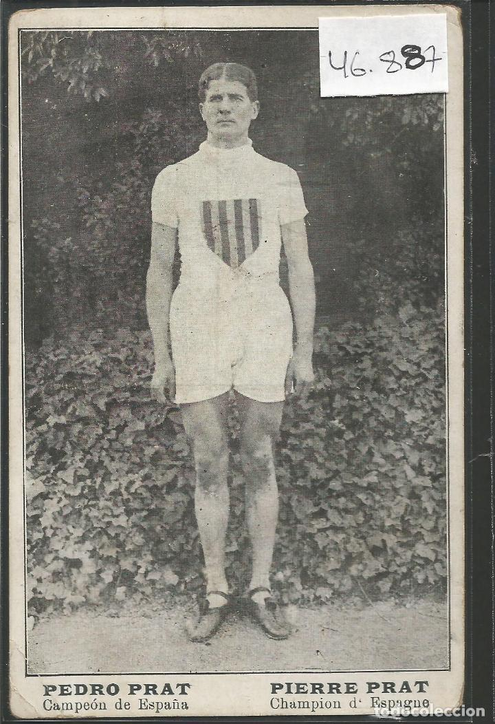 PEDRO PRAT - CAMPEON ESPAÑA DE CROS AÑO 1916- FEDERACIO CATALANA -VER REVERSO -(46.887) (Coleccionismo Deportivo - Postales de otros Deportes )