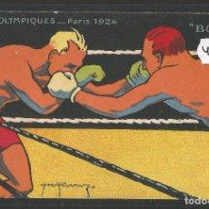 Coleccionismo deportivo: POSTAL FUTBOL - BOXEO - BOXE - JUEGOS OLIMPICOS PARIS 1924 -VER REVERSO -(46.944). Lote 80017149