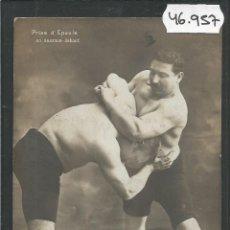 Coleccionismo deportivo: POSTAL LUCHA LIBRE -VER REVERSO -(46.957). Lote 80031865