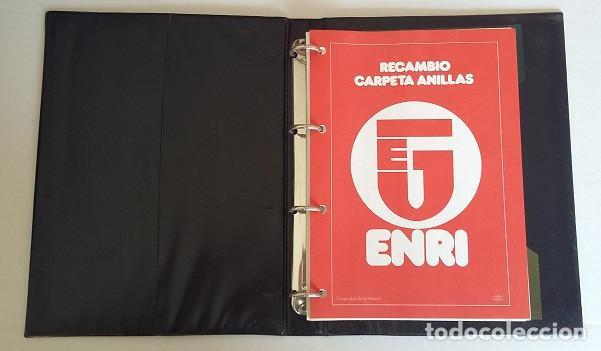 Coleccionismo deportivo: Carpeta de Enri, de cuatro anillas con coche rally, tamaño cuartilla años 80. - Foto 2 - 87664568