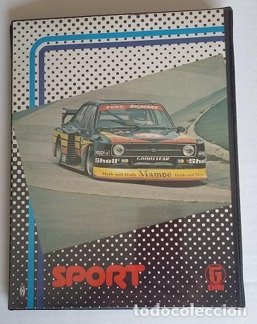 Coleccionismo deportivo: Carpeta de Enri, de cuatro anillas con coche rally, tamaño cuartilla años 80. - Foto 3 - 87664568