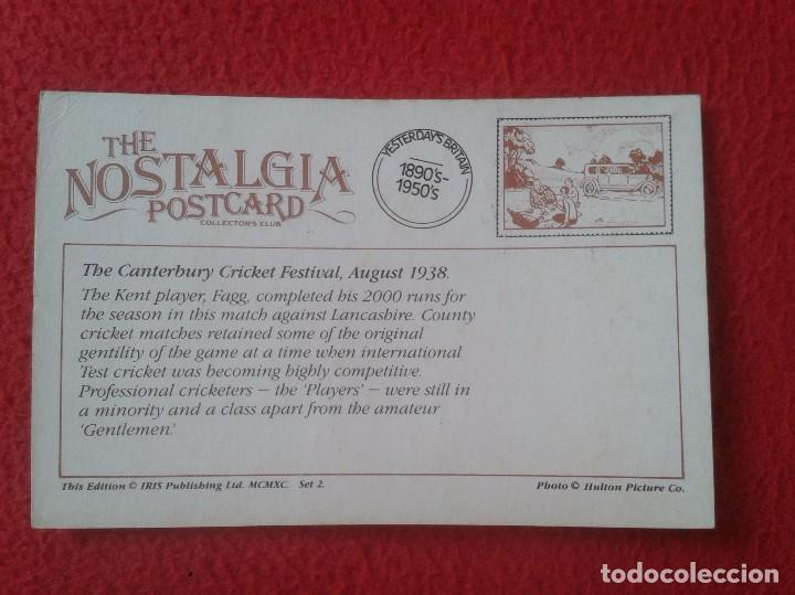 Coleccionismo deportivo: POSTAL POST CARD NOSTALGIA POSTCARD VINTAGE THE CANTERBURY CRICKET FESTIVAL 1938 KENT PLAYER FAGG - Foto 2 - 88144012