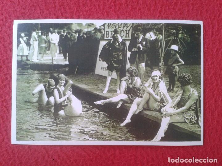 POSTAL POST CARD THE NOSTALGIA POSTCARD VINTAGE LONDON´S PALM BEACH 1926 BAÑISTAS BATHING BEAUTIES (Coleccionismo Deportivo - Postales de otros Deportes )