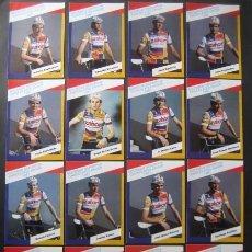 Coleccionismo deportivo: CICLISMO: EQUIPO CICLISTA ZAHOR 1987 - POSTALES DE 16 CICLISTAS - PUBLICIDAD OFICIAL DEL EQUIPO. Lote 90548945