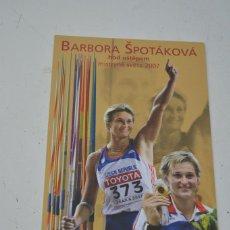 Coleccionismo deportivo: POSTAL DE BARBORA SPOTAKOVA (ATLETISMO). Lote 90706435