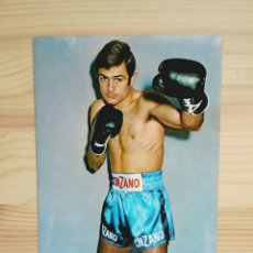 Coleccionismo deportivo: POSTAL BOXEO PEDRO CARRASCO CAMPEÓN DE EUROPA PESO LIGERO - PUBLICIDAD CINZANO R. CASADEI BOXEADOR. Lote 94356056