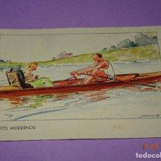 Coleccionismo deportivo: ANTIGUA TARJETA POSTAL * DEPORTES MODERNOS * REMO O PIRAGÜISMO - AÑO 1930-40S.. Lote 95765759