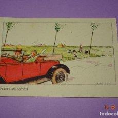 Coleccionismo deportivo: ANTIGUA TARJETA POSTAL * DEPORTES MODERNOS * AUTOMOVILISMO - AÑO 1930-40S.. Lote 95765907