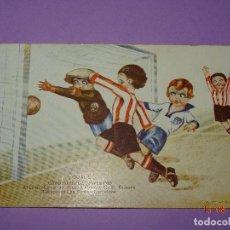 Coleccionismo deportivo: ATH CLUB BILBAO - C.D. EUROPA , CAMPEONATO DE ESPAÑA 1923 EN LAS CORTS ILUSTRADA POR CERVELLÓ,. Lote 95766675