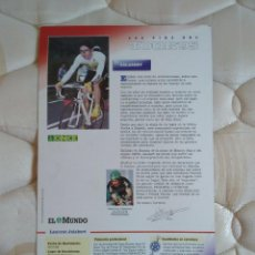 Coleccionismo deportivo: ANTIGUA POSTAL CICLISMO,TOUR DE FRANCIA'95 CON FOTO Y CARACTERÍSTICAS LAURENT JALABERT (EQUIPO ONCE). Lote 96553883
