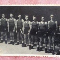 Coleccionismo deportivo: FOTOGRAFÍA FORMATO POSTAL. GRUPO BOXEADORES. BOXEO. VALENCIA.. Lote 96819535