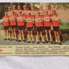 Coleccionismo deportivo: TARJETA EQUIPO CICLISTA LA CASERA BAHAMONTES 1974. Lote 97173187