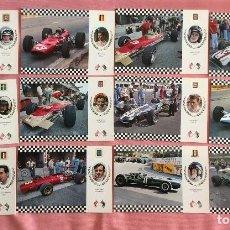 Coleccionismo deportivo: COLECCIÓN 12 POSTAL. PRIMERA SERIE GRAN PRIX. FÓRMULA I. CARRERAS COCHES. 1969.. Lote 97176719