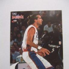 Coleccionismo deportivo: POSTAL JUGADOR TAU CERAMICA BASKONIA VITORIA BASKET. JORDI GRIMAU. BALONCESTO. TDKP12. Lote 98137771