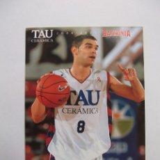Coleccionismo deportivo: POSTAL JUGADOR TAU CERAMICA BASKONIA VITORIA BASKET. JOSE MANUEL CALDERON. BALONCESTO. TDKP12. Lote 98137951