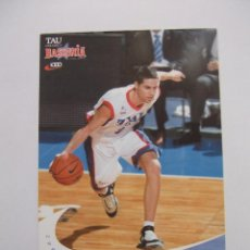 Coleccionismo deportivo: POSTAL JUGADOR TAU CERAMICA BASKONIA VITORIA BASKET. SERGI VIDAL. BALONCESTO. TDKP12. Lote 98137991