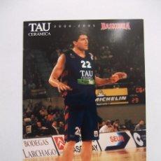Coleccionismo deportivo: POSTAL JUGADOR TAU CERAMICA BASKONIA VITORIA BASKET. ROBERTO GABINI. BALONCESTO. TDKP12. Lote 98138275