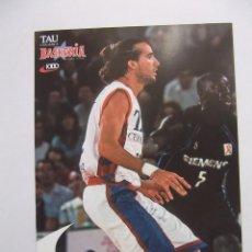 Coleccionismo deportivo: POSTAL JUGADOR TAU CERAMICA BASKONIA VITORIA BASKET. JORDI GRIMAU. BALONCESTO. TDKP12. Lote 98138379