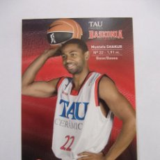 Coleccionismo deportivo: POSTAL JUGADOR TAU CERAMICA BASKONIA VITORIA BASKET. MUSTAFA SHAKUR. BALONCESTO. TDKP12. Lote 98138615