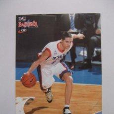 Coleccionismo deportivo: POSTAL JUGADOR TAU CERAMICA BASKONIA VITORIA BASKET. SERGI VIDAL. BALONCESTO. TDKP12. Lote 98138987